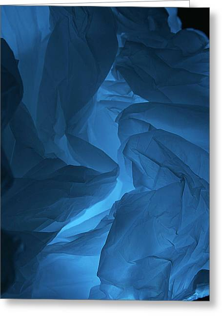 Greeting Card featuring the photograph Skc 0247 A Mystery In Blue by Sunil Kapadia