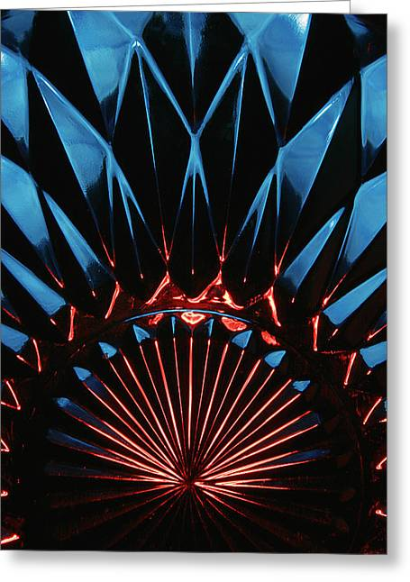 Greeting Card featuring the photograph Skc 0269 Cut Glass by Sunil Kapadia