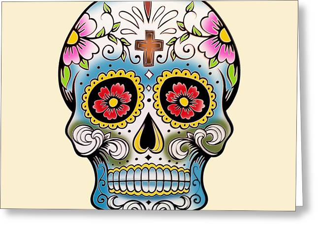 Skull 10 Greeting Card by Mark Ashkenazi