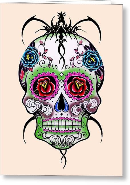 Skull 11 Greeting Card by Mark Ashkenazi