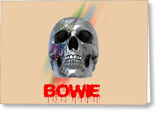 Skull Bowie  Greeting Card by Mark Ashkenazi