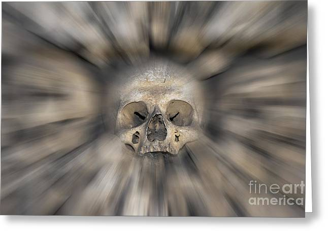 Skull - Fear And Trembling  Greeting Card by Michal Boubin