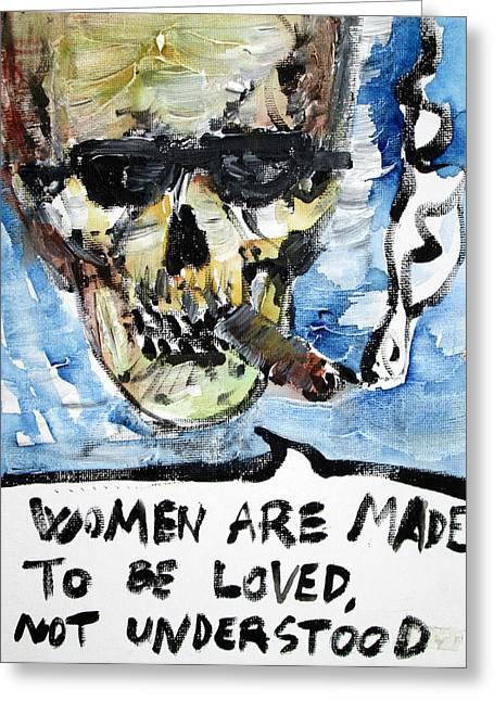 Skull Quoting Oscar Wilde.6 Greeting Card by Fabrizio Cassetta