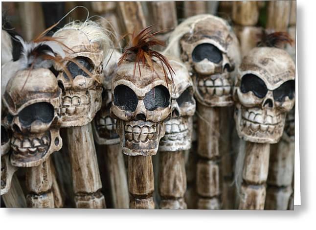 Skull Sticks Greeting Card