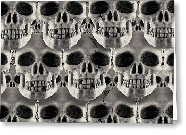 Skulls 1 Greeting Card by Mike McGlothlen