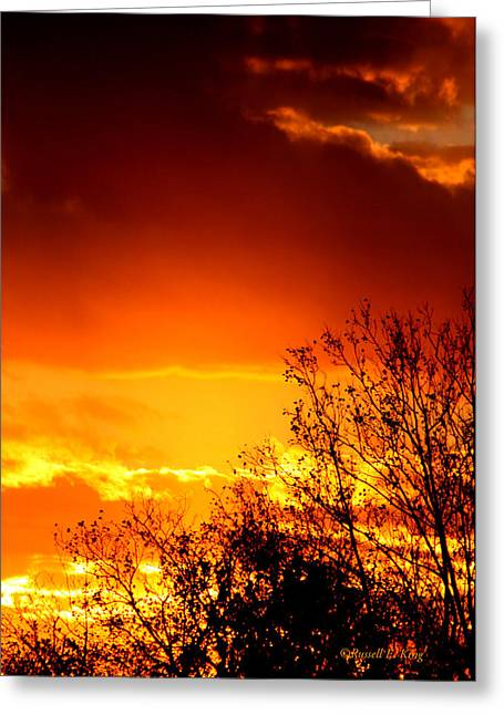 Sky Ablaze Greeting Card by Russell  King