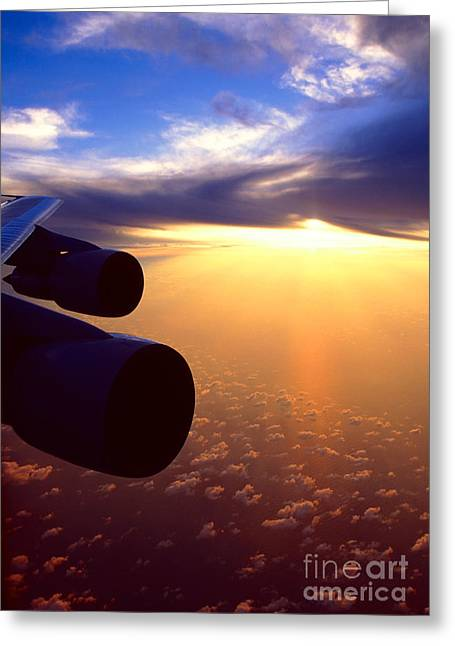 Greeting Card featuring the photograph Sky Above 30000 Feet  by Aiolos Greek Collections