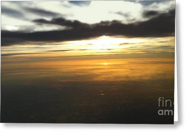 Sky Above Greeting Card by Raymond Earley