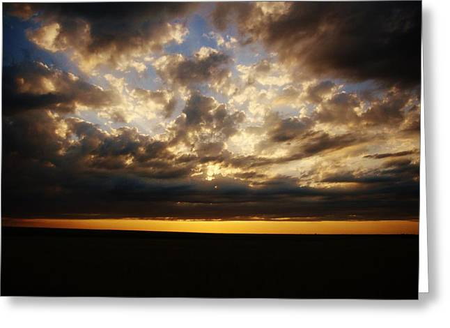 Greeting Card featuring the photograph Sky Aglow by Shirley Heier