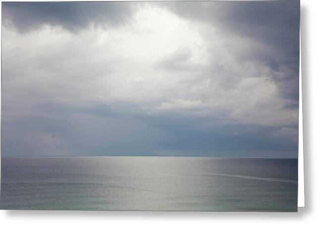 Sky And Cloudscape, Rhodes, Greece Greeting Card by Peter Adams