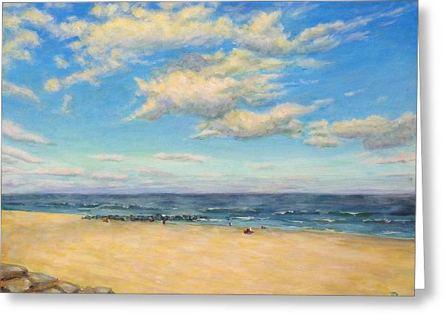 Greeting Card featuring the painting Sky And Sand by Joe Bergholm