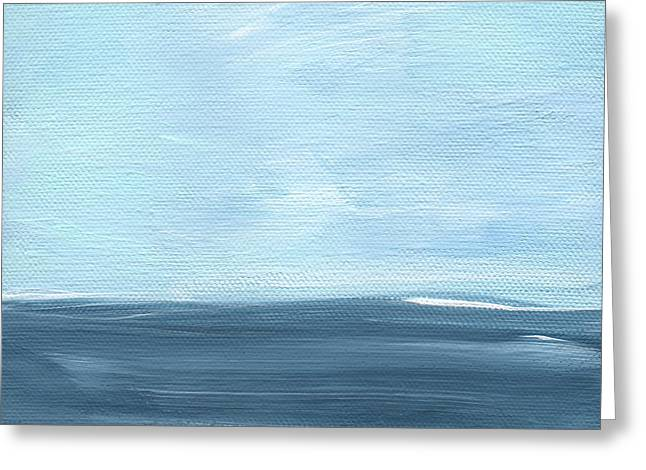 Sky And Sea Greeting Card by Linda Woods