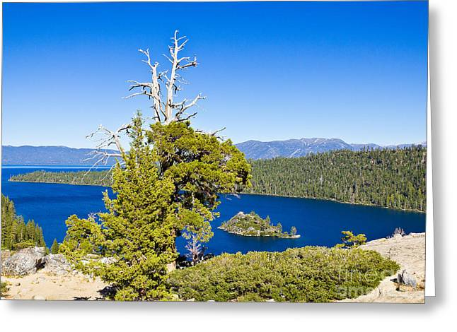 Sky Blue Water - Emerald Bay - Lake Tahoe Greeting Card