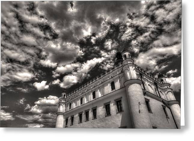 Sky Breaker In Black And White Greeting Card