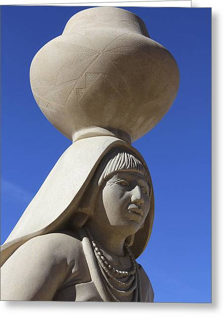 Sky City Cultural Center Statue 2 Greeting Card by Mike McGlothlen
