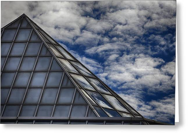 Sky Clouds And Glass Greeting Card by Robert Ullmann