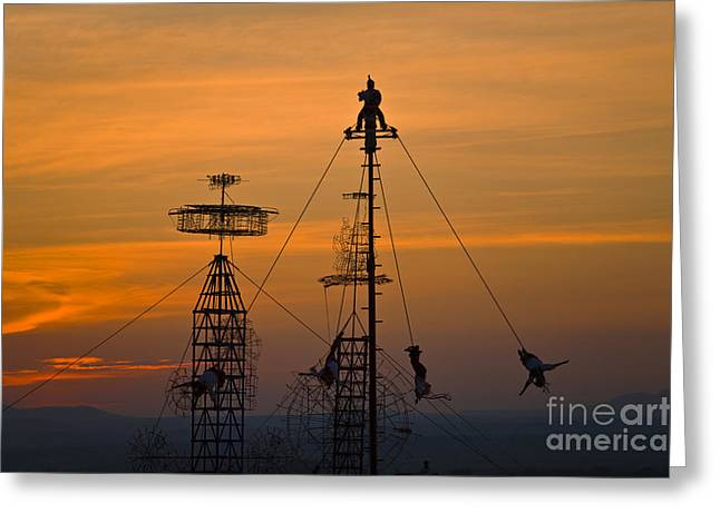 Sky Dancers - San Miguel De Allende Mexico Greeting Card by Craig Lovell