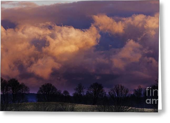 Sky Drama Greeting Card by Thomas R Fletcher