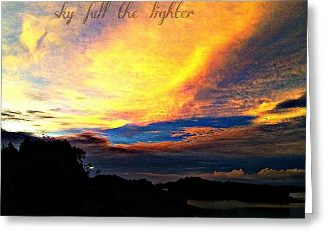 Sky Full The Lighter Greeting Card by Thepride