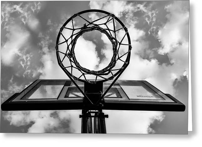 Sky Hoop Basketball Time Greeting Card
