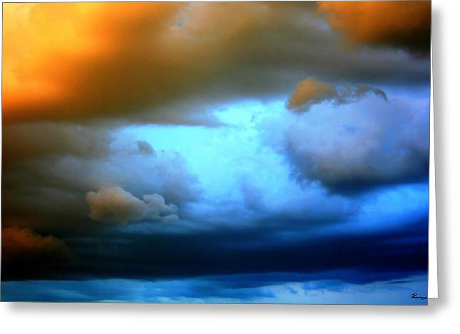 Sky In Peril Greeting Card by Andrea Lawrence