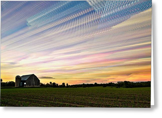 Sky Matrix Greeting Card by Matt Molloy