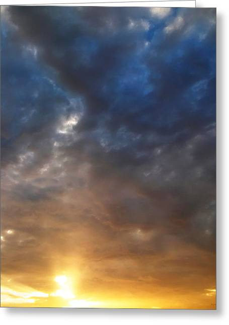 Sky Moods - Contemplation Greeting Card by Glenn McCarthy