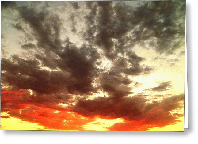 Sky Moods - Stoking The Coals Greeting Card by Glenn McCarthy