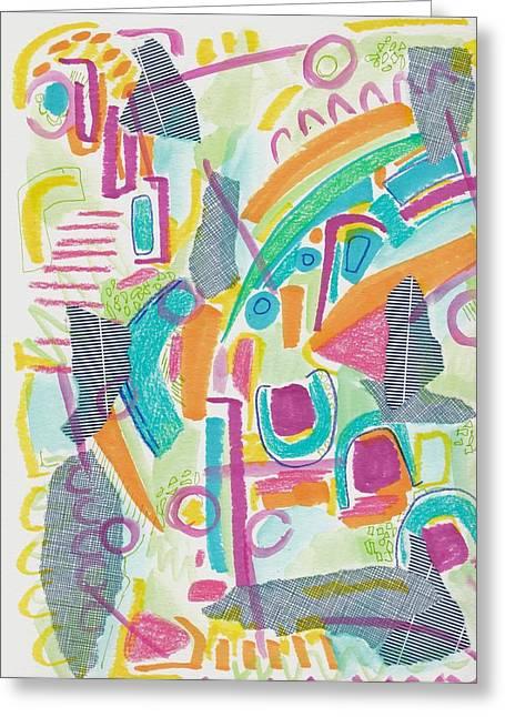 Sky Music Greeting Card by Rosalina Bojadschijew