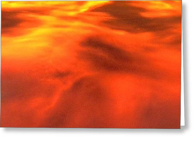 Sky On Fire Greeting Card by Jake Harral
