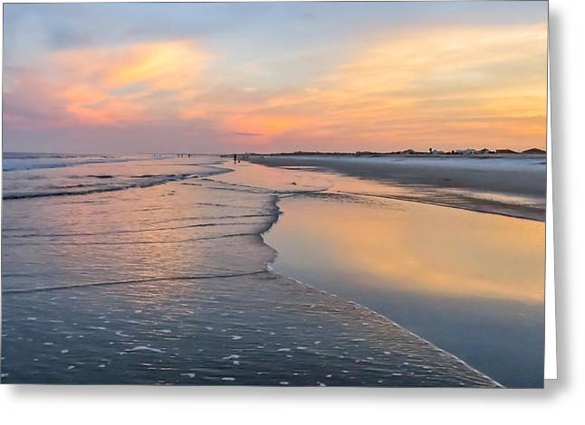Sky Reflection On The Beach Greeting Card by Zina Stromberg