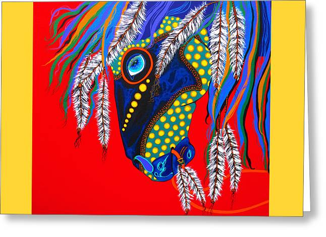 Greeting Card featuring the painting Sky Spirit by Debbie Chamberlin