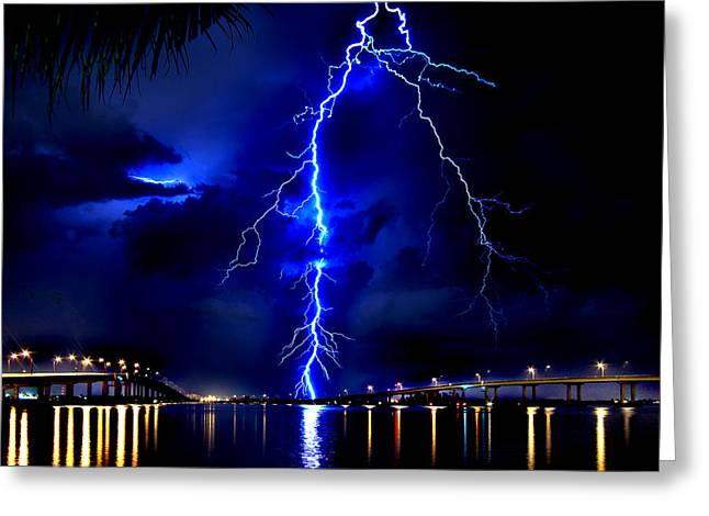 Sky Streaking Greeting Card by Doug Heslep