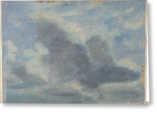 Sky Study, Lionel Constable, 1828-1887 Greeting Card by Litz Collection