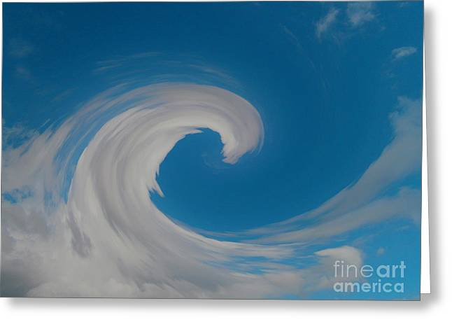 Sky Surfing Greeting Card by Drew Shourd