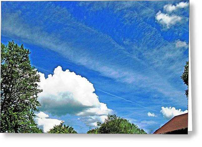 Sky Trails Greeting Card by Skyler Tipton