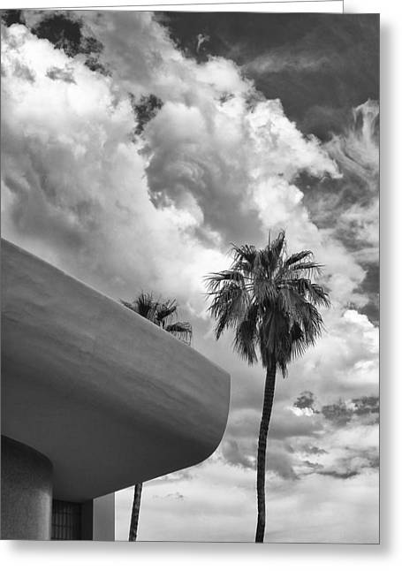 Sky-ward Palm Springs Greeting Card by William Dey
