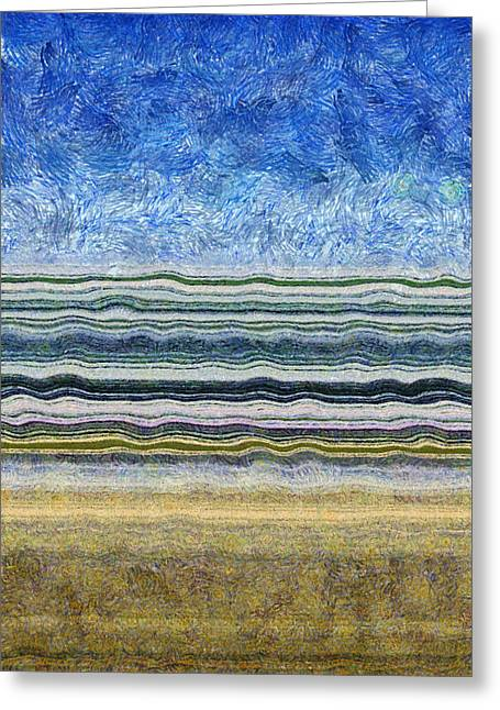 Sky Water Earth 2 Greeting Card by Michelle Calkins