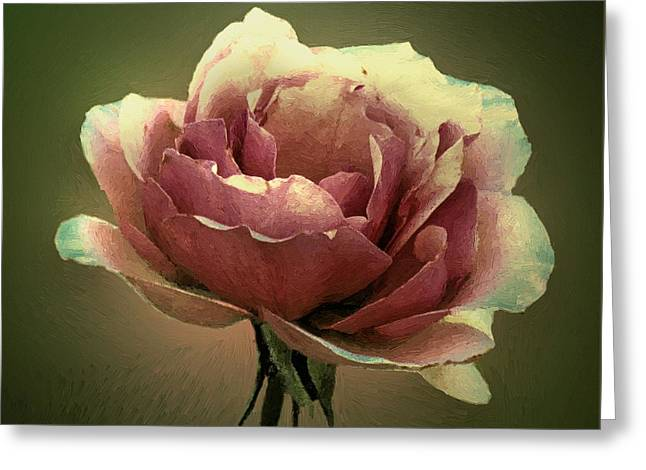Skyblue Pink Greeting Card by RC deWinter