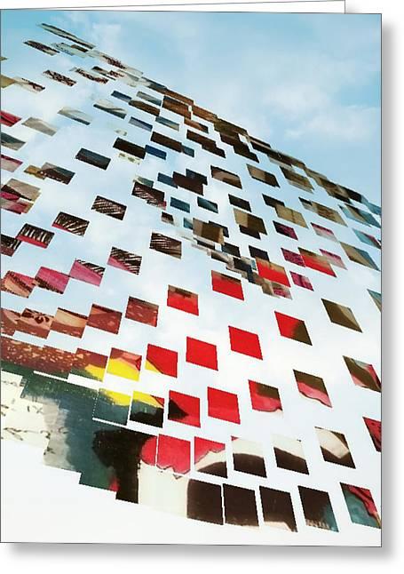 Skyfall Greeting Card by Jan Steadman-Jackson