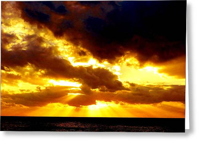 Greeting Card featuring the photograph Skygold by Amar Sheow