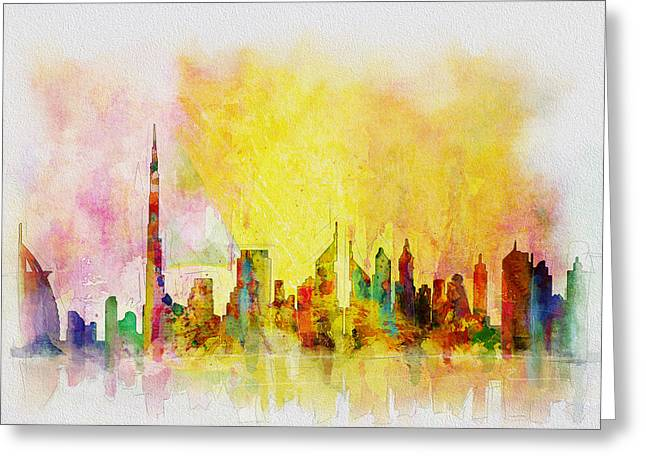 Skyline Collage  Greeting Card by Corporate Art Task Force