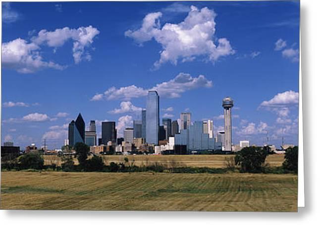 Skyline Dallas Tx Usa Greeting Card