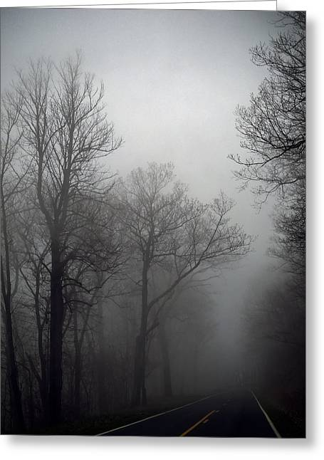Skyline Drive In Fog Greeting Card by Greg Reed