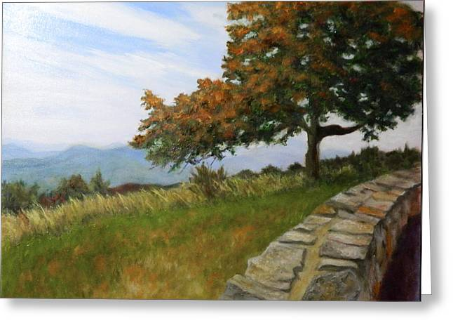 Greeting Card featuring the painting Skyline Drive Virginia by Sandra Nardone