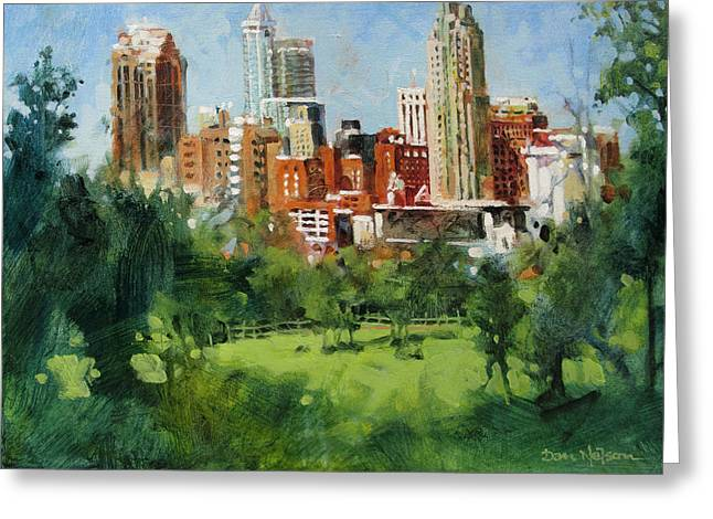 Skyline From Dix Hill Greeting Card