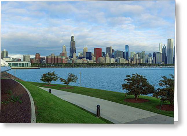 Skyline From The Adler Planetarium Greeting Card by Panoramic Images