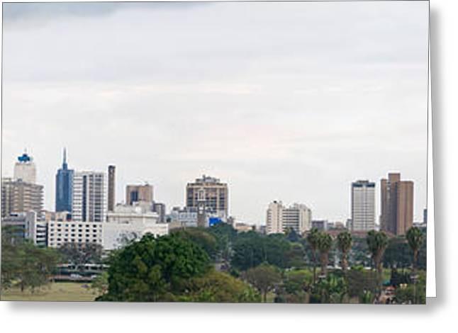 Skyline In A City, Nairobi, Kenya 2011 Greeting Card