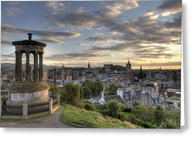 Greeting Card featuring the photograph Skyline Of Edinburgh Scotland by Michalakis Ppalis