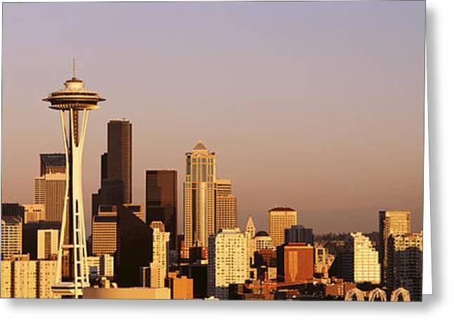 Skyline, Seattle, Washington State, Usa Greeting Card